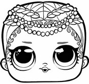 Coloring page Merbaby