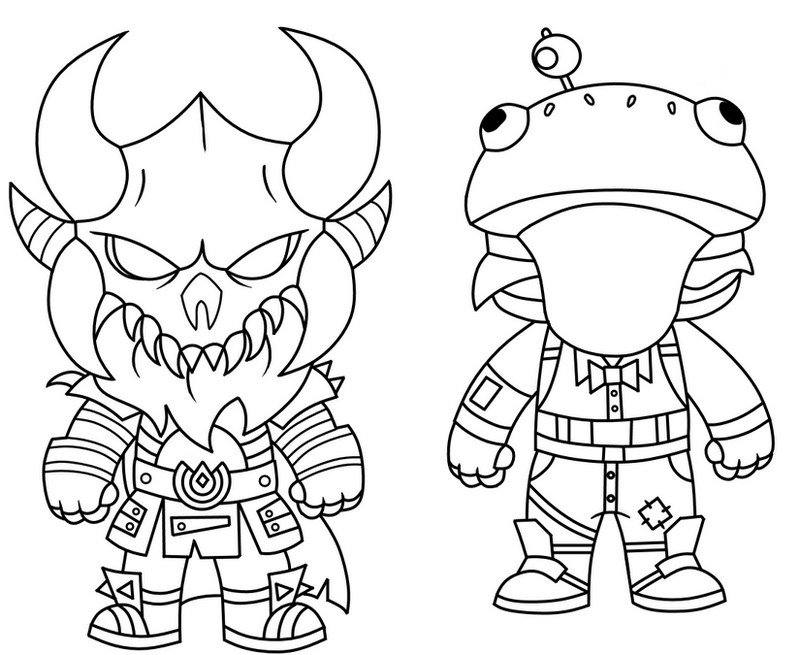 Dibujo para colorear fortnite mini cute the dark viking for Fortnite disegni da colorare