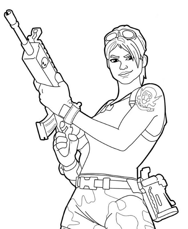 Coloriage Fortnite Battle Royale Personnage 4 A Imprimer