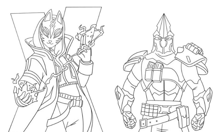 Dibujo Para Colorear Fortnite Temporada 10 Catalyst Y