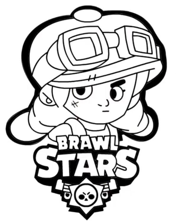 Coloring page brawl stars jessie 23 - Coloriage jessie ...