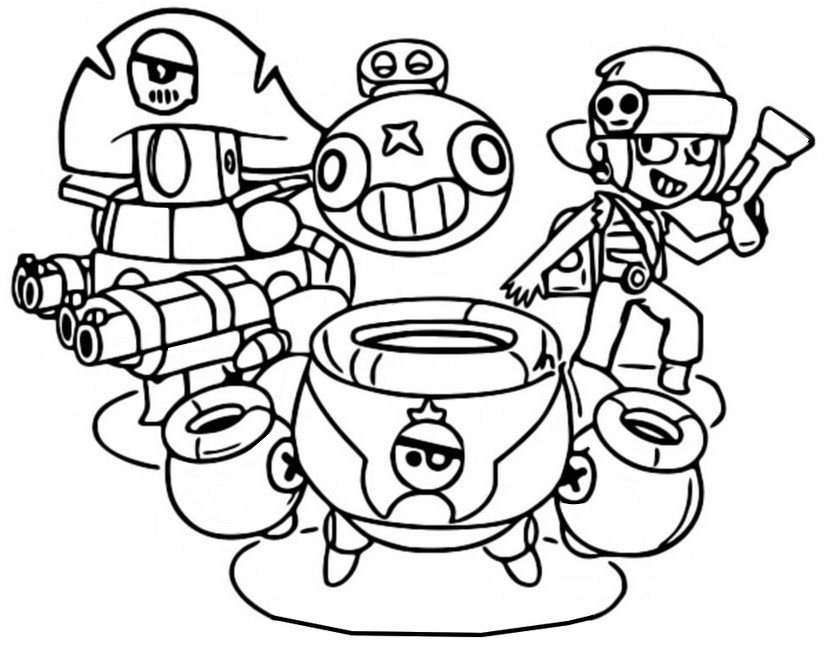 coloring and drawing brawl stars coloring pages darryl