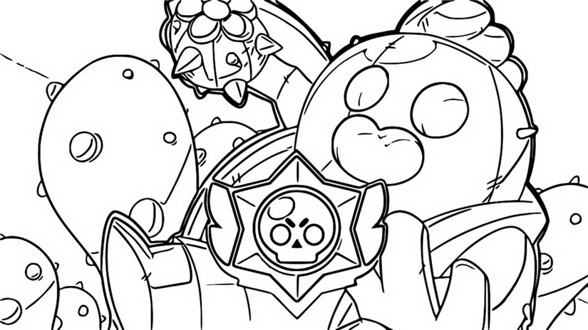 Coloring page Brawl Stars 7