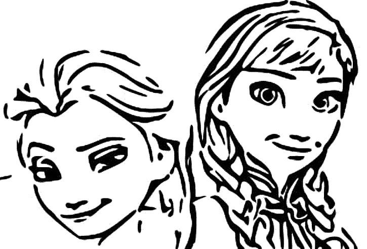 Kleurplaten Frozen Anna En Elsa.Kleurplaat Frozen 2 Anna En Elsa 1