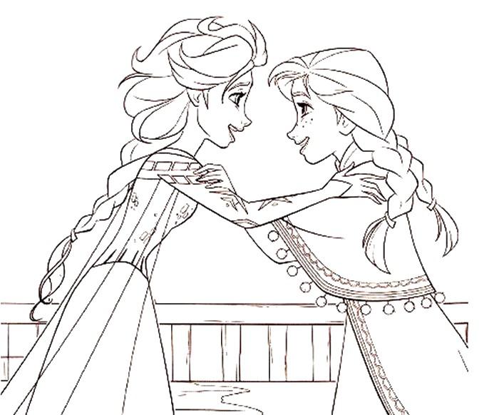 Dibujo Para Colorear Frozen 2 Elsa Y Anna 11