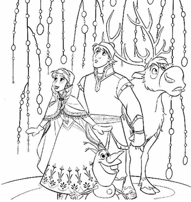 Dibujo Para Colorear Frozen 2 Elsa Kristoff Olaf Y Sven 12