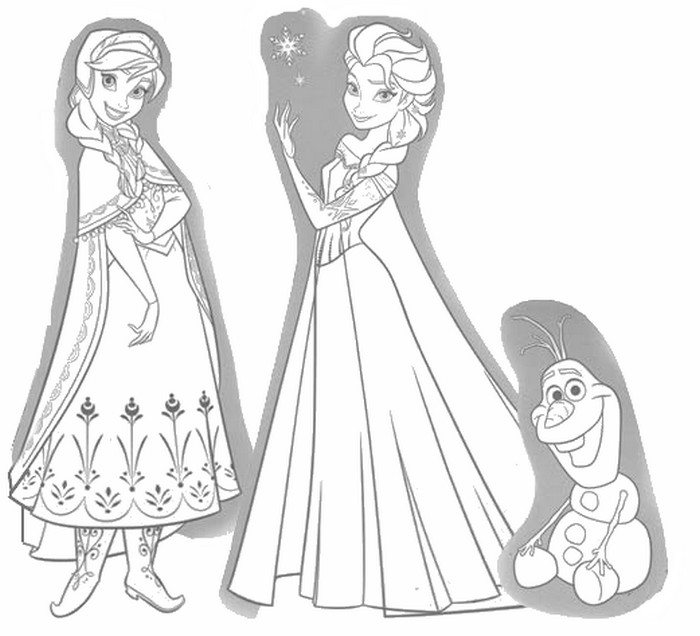 Coloring Page Frozen 2 Anna Elsa And Olaf 14