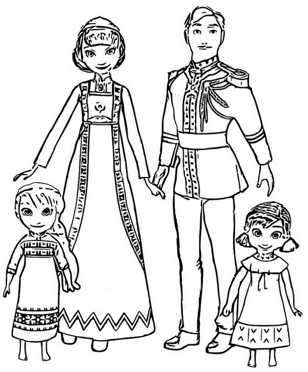 Dibujo Para Colorear Frozen 2 Iduna Y Agnarr 19