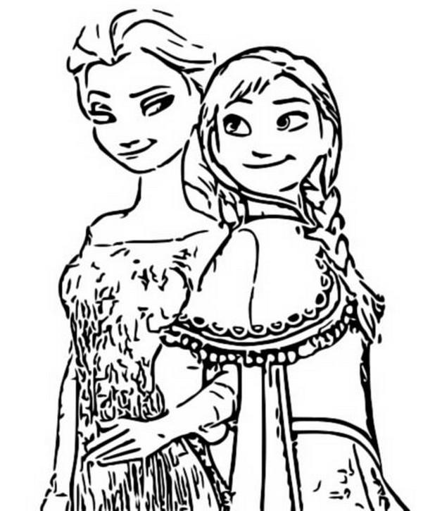 Kleurplaten Frozen Anna En Elsa.Kleurplaat Frozen 2 Anna En Elsa 2