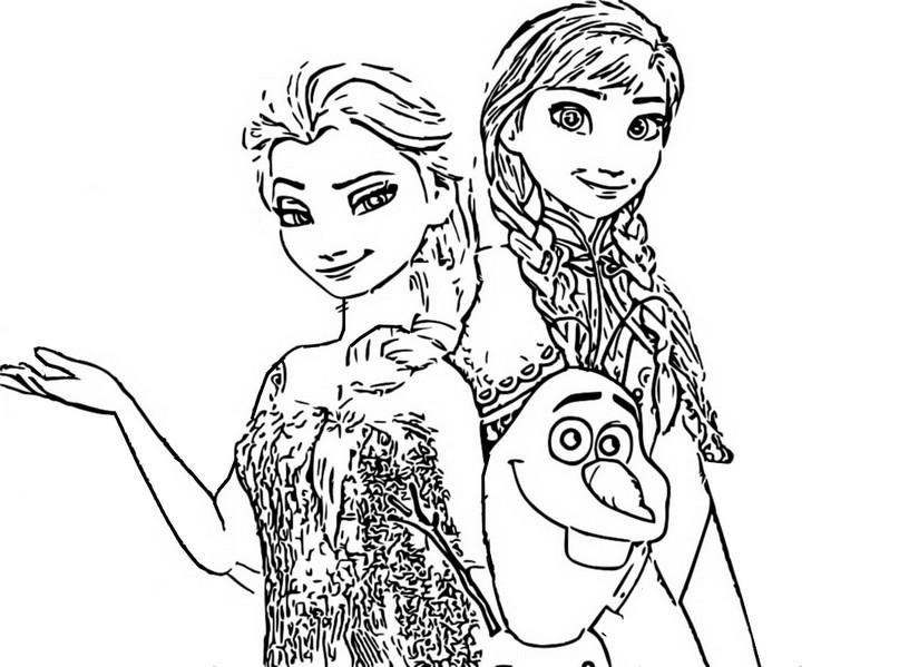 Kleurplaten Frozen Anna En Elsa.Kleurplaat Frozen 2 Anna En Elsa 3