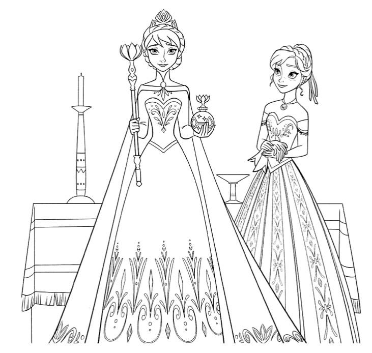 Desenho Para Colorir Frozen 2 A Rainha 7