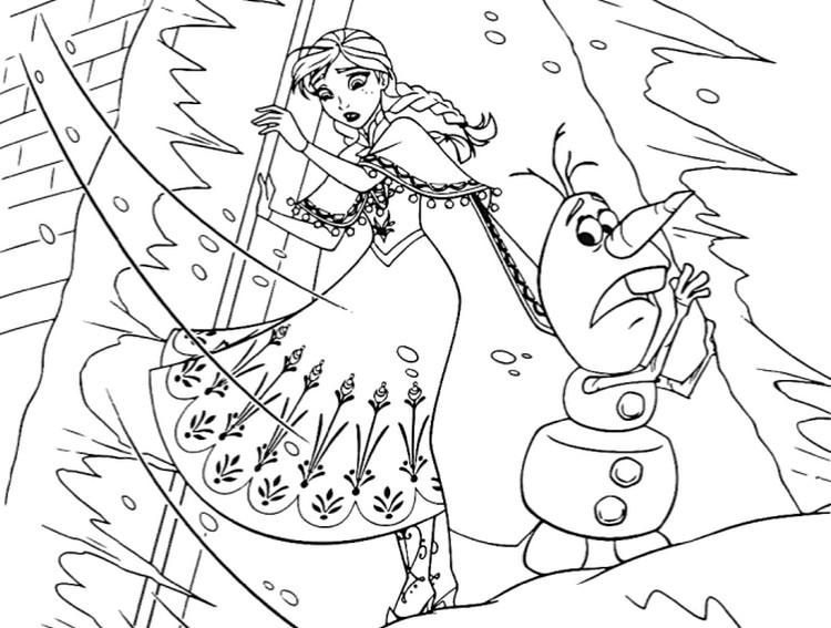 Dibujo Para Colorear Frozen 2 La Tormenta 8