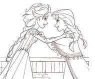 Tulostakaa värityskuvia Elsa ja Anna