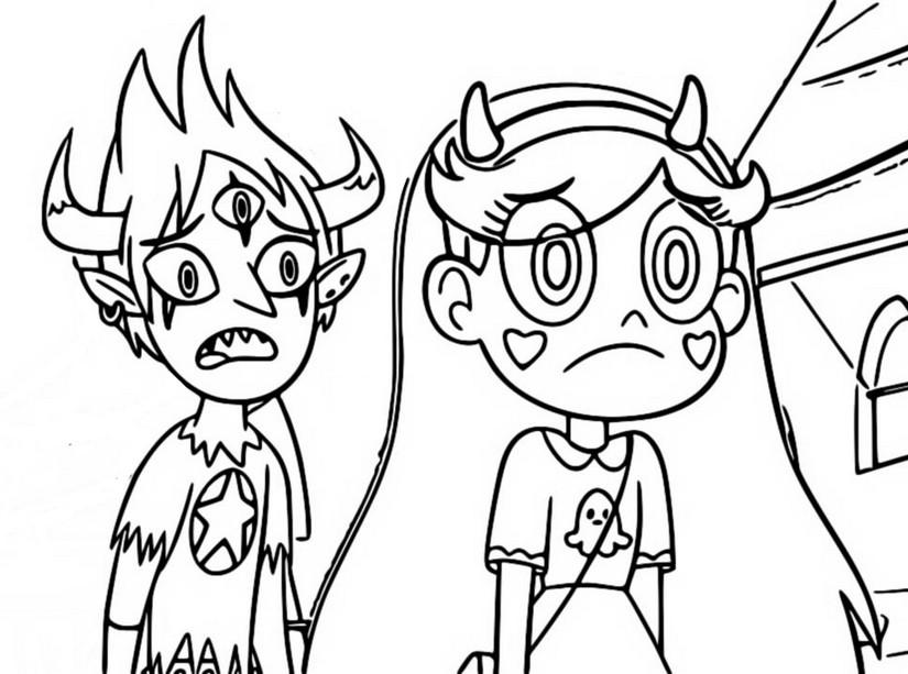 Star Contra Las Fuerzas Del Mal Dibujos: Dibujo Para Colorear Star Contra Las Fuerzas Del Mal