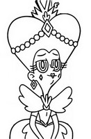 Coloring page Queen Butterfly