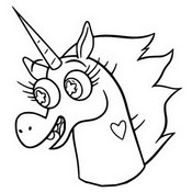 Coloring page Pony Head