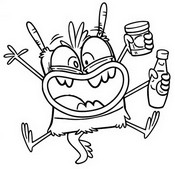 Coloring page Bunsen Monster