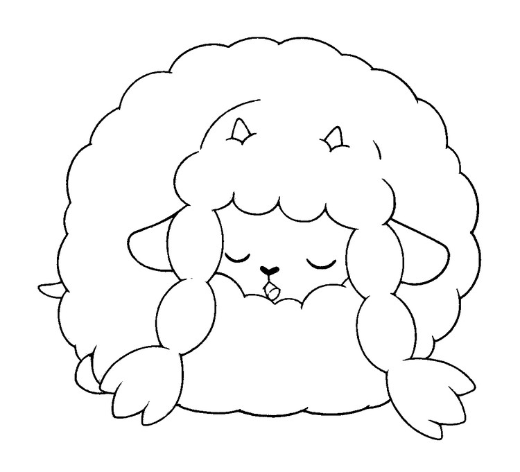 Coloring page Wooloo