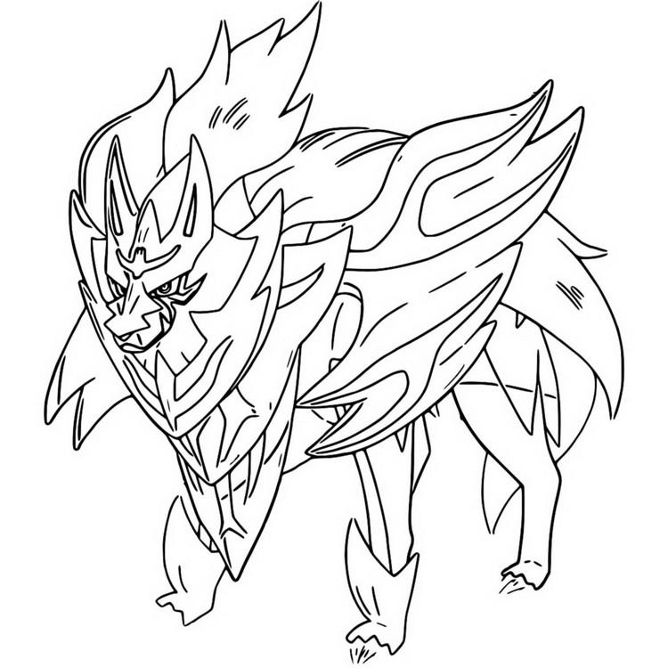 Disegno Da Colorare Pokemon Spada E Scudo Zamazenta 13