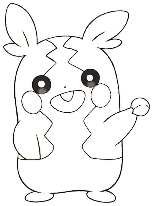 Coloring page Morpeko full belly mode - Pokémon Sword and Shield