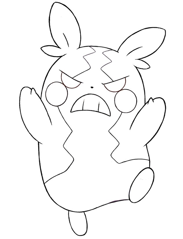 Coloring page Morpeko hangry mode - Pokémon Sword and Shield