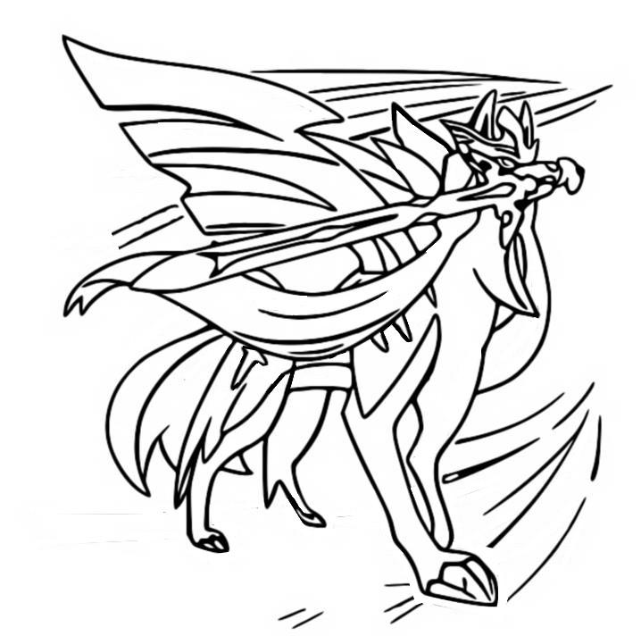 Coloring Page Pokemon Sword And Shield Zacian 28