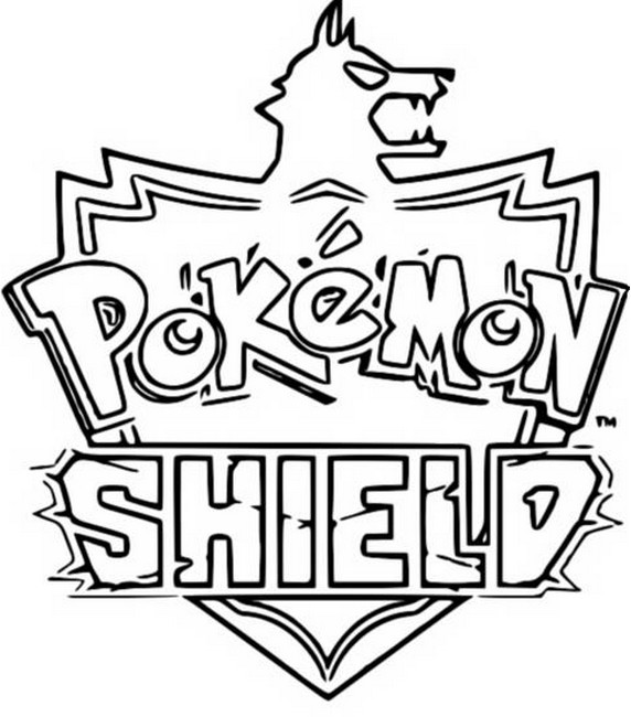 Coloring page Pokemon Shield - Pokémon Sword and Shield