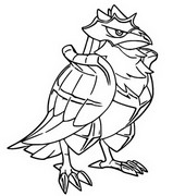 Coloring page Corviknight