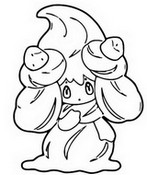 Coloring page Alcremie