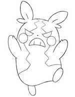Coloring page Morpeko hangry mode