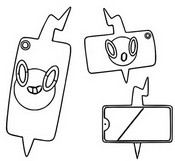 Coloring page Rotom Phone