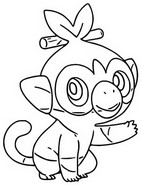 Coloring page Grookey
