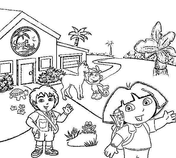 Disegno Da Colorare Dora L Esploratrice 9