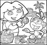 Desenho para colorir Dora a aventureira