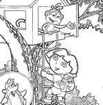 Coloring page Dora the explorer