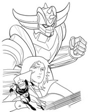 Coloring page Grendizer