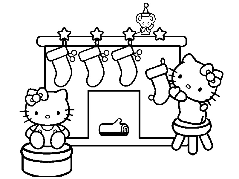 Coloring Page Hello Kitty 4