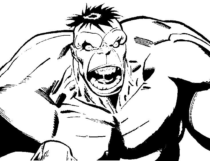 Kleurplaat Hulk 10