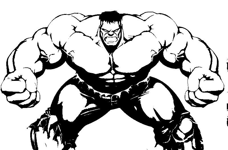 Kleurplaten Hulk.Kleurplaat Hulk 12