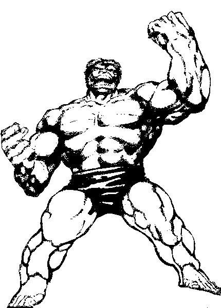 Kleurplaat Hulk 2