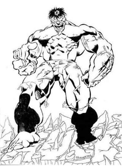 Kleurplaten Hulk.Kleurplaat Hulk 3