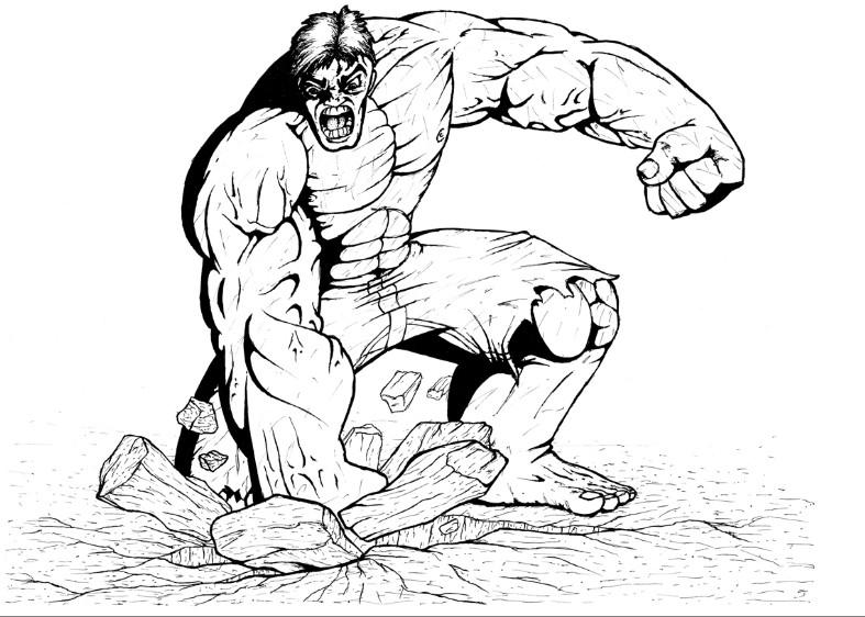 Kleurplaten De Hulk.Kleurplaat Hulk 6