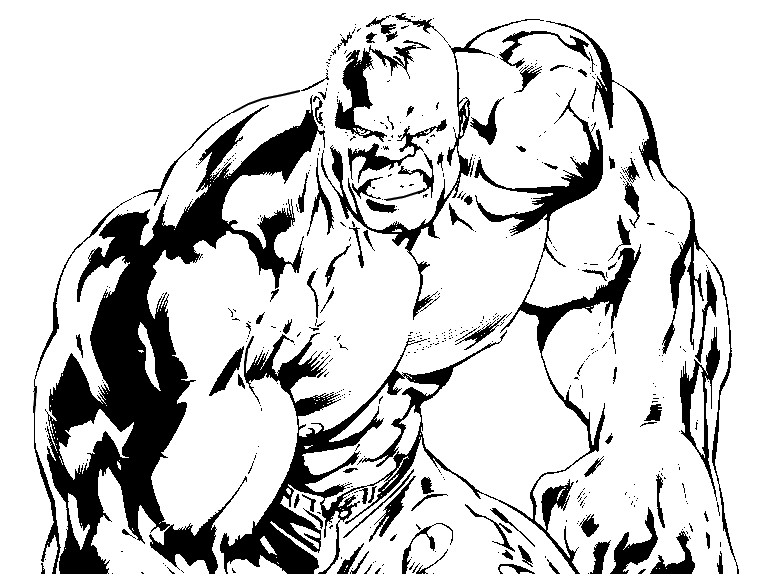 Kleurplaten De Hulk.Kleurplaat Hulk