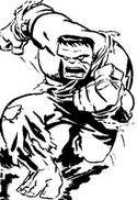 Desenho para colorir Hulk