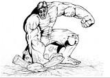 Disegno da colorare Hulk