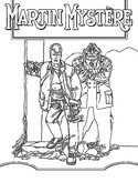 Desenho para colorir Martin Mystere