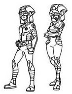 Coloring page Ultra Recon Squad - Dulse and Soliera