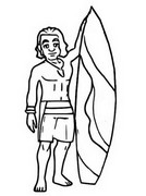 Coloring page Surfer