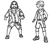 Coloring page Master & Apprentice