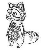 Coloring page The raccoon